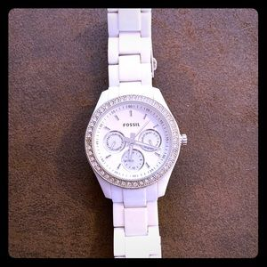 White Fossil woman's watch!